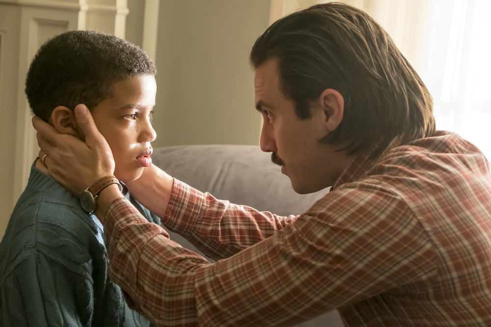 Milo Ventimiglia and Lonnie Chavis in This Is Us (2016)