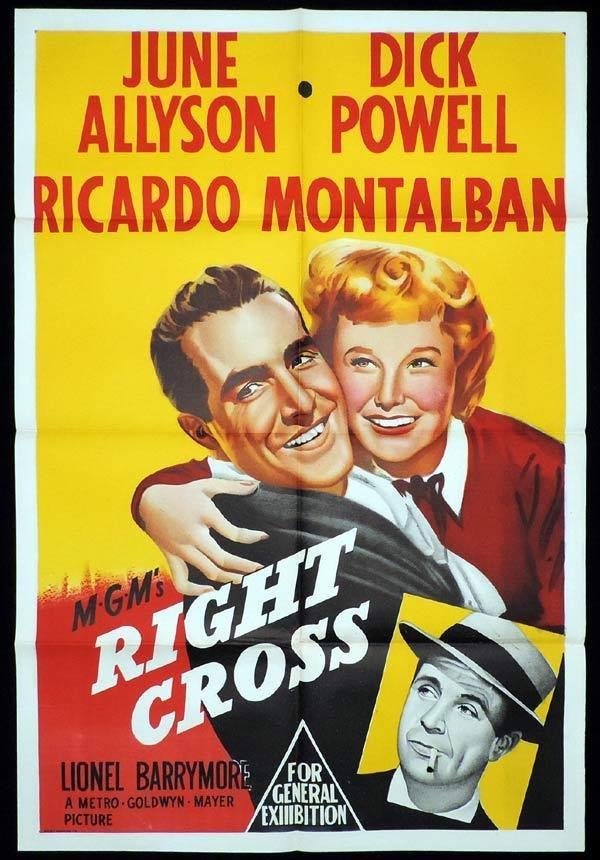 June Allyson, Ricardo Montalban, and Dick Powell in Right Cross (1950)