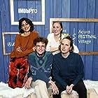 Eleanor Wilson, Sunita Mani, John Reynolds, and Alex Huston Fischer at an event for The IMDb Studio at Acura Festival Village (2020)