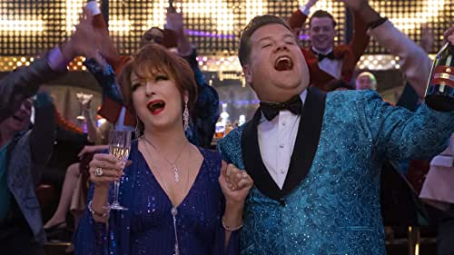 'The Prom' follows Dee Dee Allen (three-time Academy Award winner Meryl Streep) and Barry Glickman (Tony Award winner James Corden) who are New York City stage stars with a crisis on their hands: their expensive new Broadway show is a major flop that has suddenly flatlined their careers. Meanwhile, in small-town Indiana, high school student Emma Nolan (newcomer Jo Ellen Pellman) is experiencing a very different kind of heartbreak: despite the support of the high school principal (Keegan-Michael Key), the head of the PTA (Kerry Washington) has banned her from attending the prom with her girlfriend, Alyssa (Ariana DeBose). When Dee Dee and Barry decide that Emma's predicament is the perfect cause to help resurrect their public images, they hit the road with Angie (Academy Award winner Nicole Kidman) and Trent (Andrew Rannells), another pair of cynical actors looking for a professional lift. But when their self-absorbed celebrity activism unexpectedly backfires, the foursome find their own lives upended as they rally to give Emma a night where she can truly celebrate who she is.  Directed by Ryan Murphy, 'The Prom' is the spectacular, big-hearted film adaptation of the Tony-nominated Broadway musical. Screenplay by Bob Martin and Chad Beguelin.