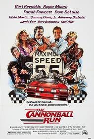 Adrienne Barbeau, Farrah Fawcett, Roger Moore, Burt Reynolds, Dom DeLuise, Dean Martin, and Sammy Davis Jr. in The Cannonball Run (1981)