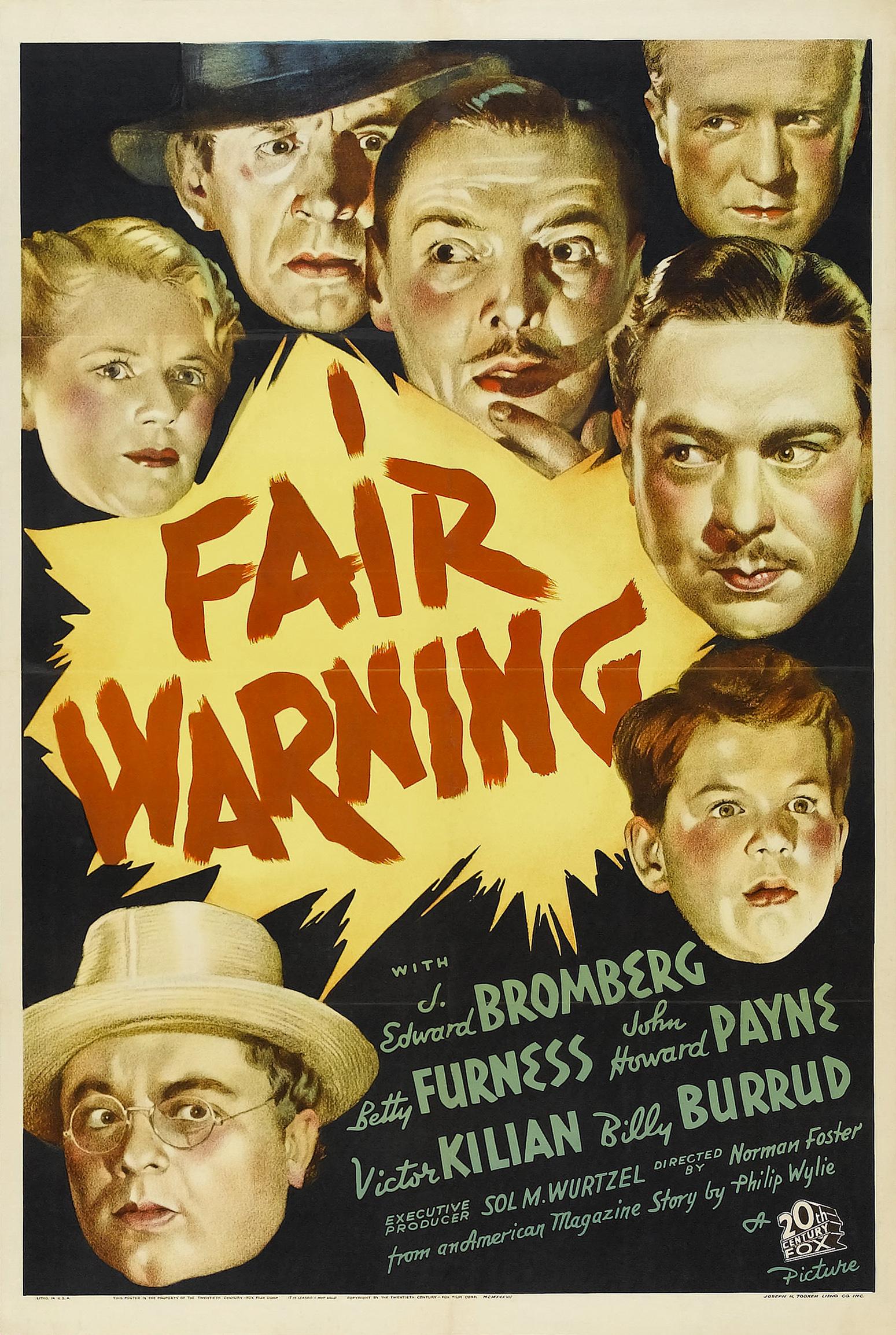 fair warning 1937 imdb