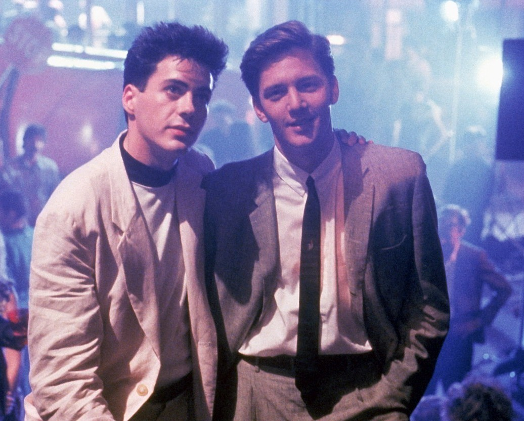 Robert Downey Jr. and Andrew McCarthy in Less Than Zero (1987)