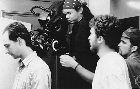Darren Aronofsky, Sean Gullette, and Matthew Libatique in Pi (1998)