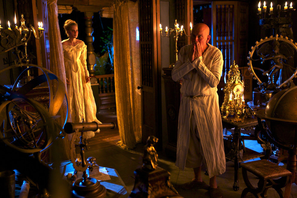 John Malkovich and Aimee Mullins in Crossbones (2014)