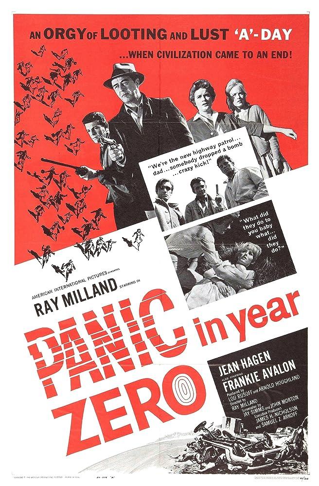 Frankie Avalon, Ray Milland, Richard Bakalyan, Neil Burstyn, Joan Freeman, Jean Hagen, Rex Holman, and Mary Mitchel in Panic in Year Zero (1962)