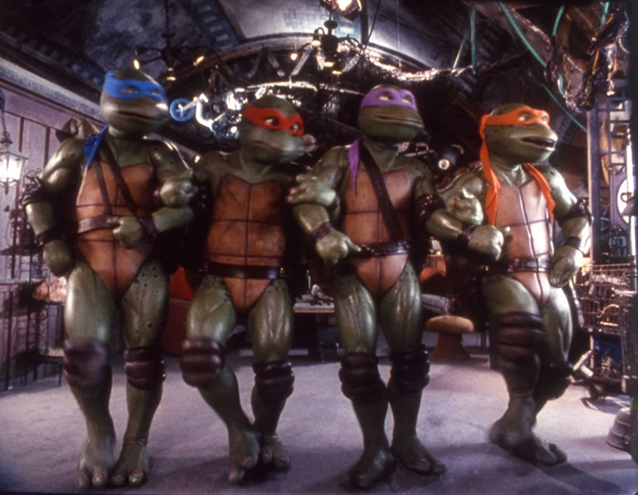 Mark Caso, David Fraser, Matt Hill, and Jim Raposa in Teenage Mutant Ninja Turtles III (1993)