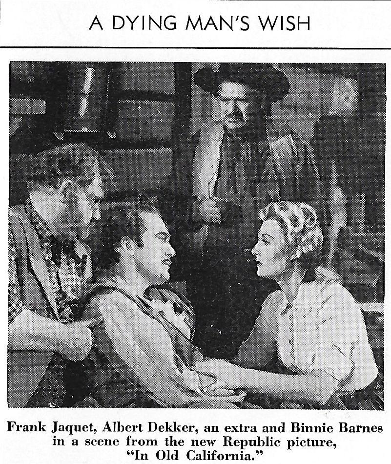 Binnie Barnes, Albert Dekker, Frank Jaquet, and Jack Kirk in In Old California (1942)
