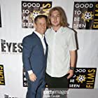 Robbie Bryan and Danny Flaherty at an event for The Eyes (2017)