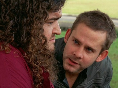 Jorge Garcia and Dominic Monaghan in Lost (2004)