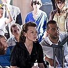 Milla Jovovich, Timur Bekmambetov, and Ivan Urgant in Vykrutasy (2011)
