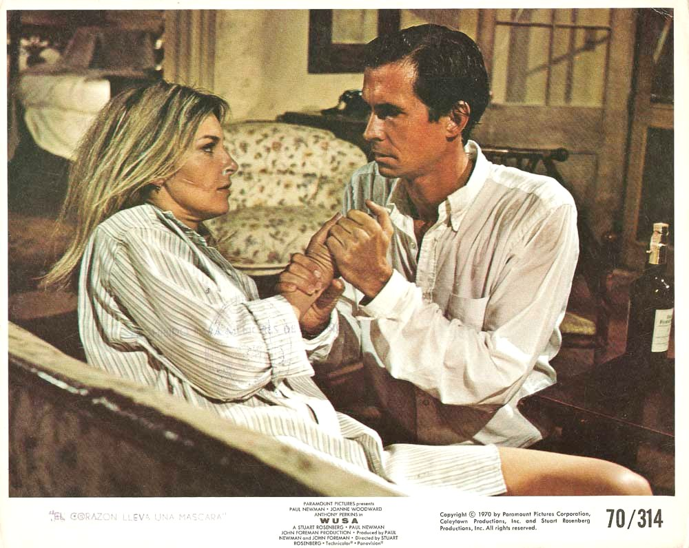 Anthony Perkins and Joanne Woodward in WUSA (1970)
