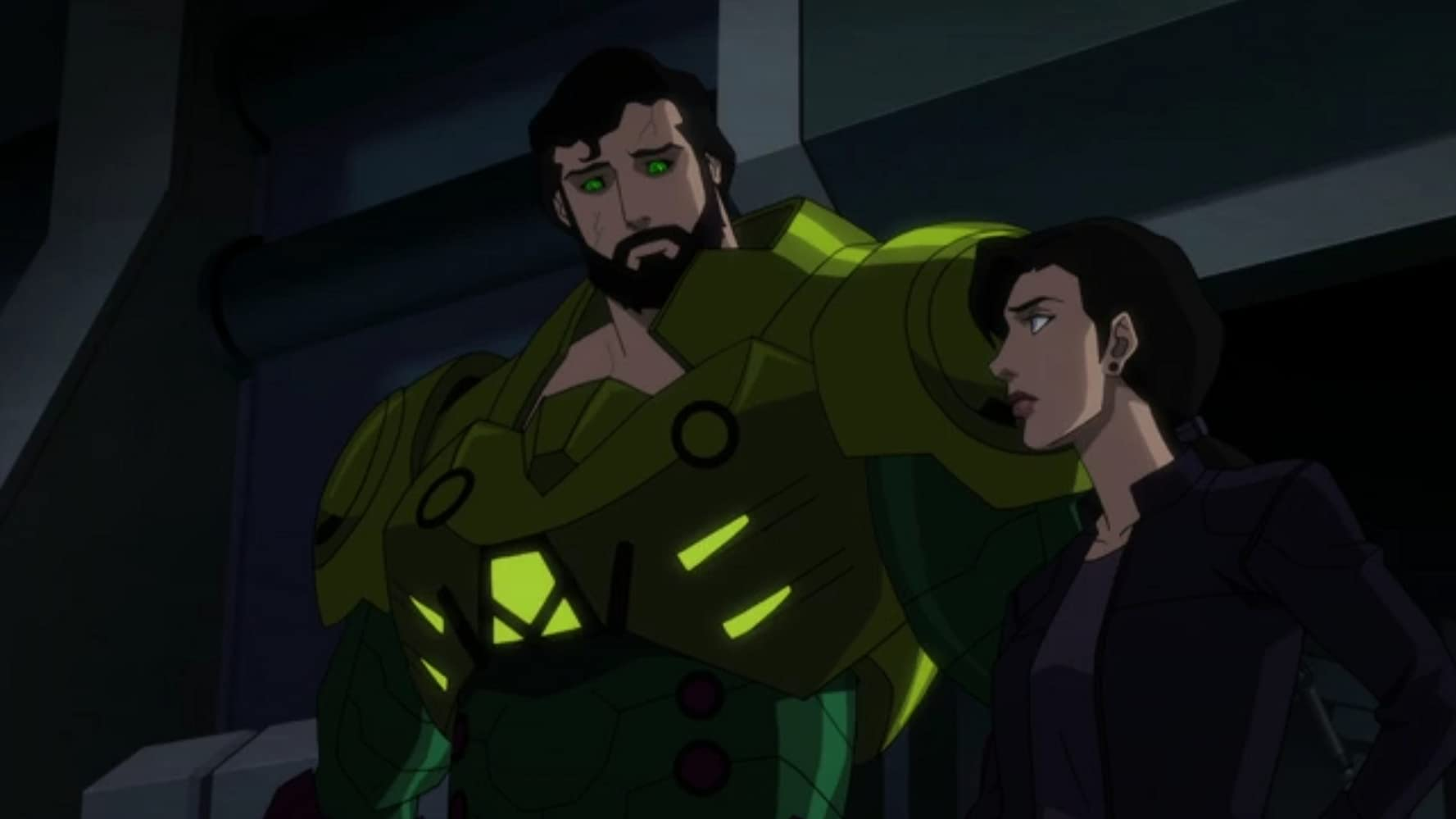 Jerry O'Connell and Rebecca Romijn in Justice League Dark: Apokolips War (2020)
