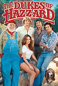 Catherine Bach, Ben Jones, Denver Pyle, John Schneider, and Tom Wopat in The Dukes of Hazzard (1979)