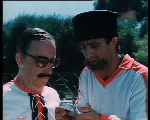 Nikos Rizos and Sotiris Tzevelekos in Ethniki papadon (1984)