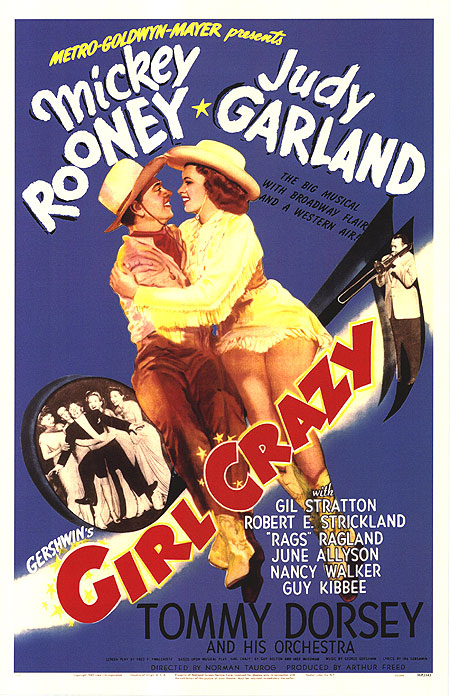 Judy Garland, Mickey Rooney, and Tommy Dorsey in Girl Crazy (1943)