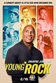 Dwayne Johnson, Stacey Leilua, Joseph Lee Anderson, Uli Latukefu, Bradley Constant, and Adrian Groulx in Young Rock (2021)