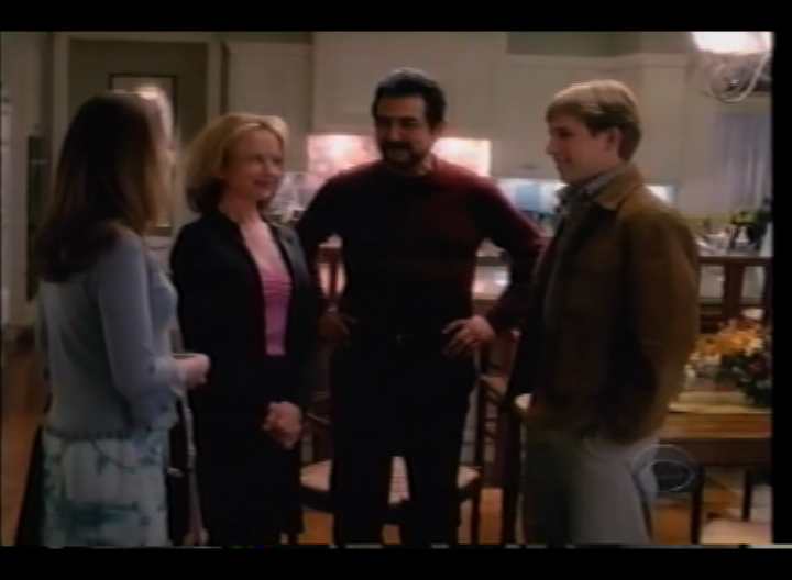 Still of Rachel Grate, Linda Purl, Joe Mantegna, and Billy Aoron Brown in First Monday