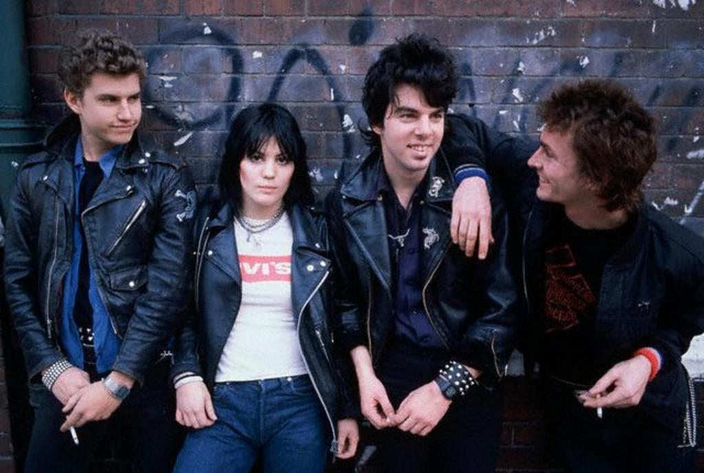 Joan Jett's original Blackhearts.  Gary Ryan, Joan Jett, Eric Ambel & Danny O'brien