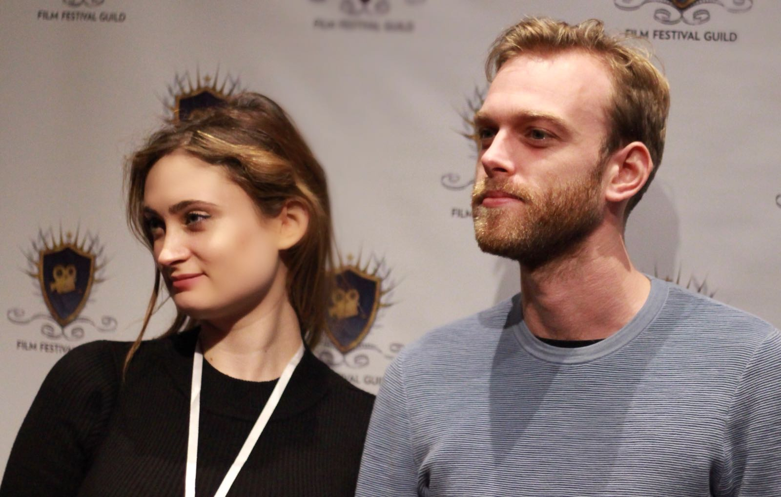 James Mansell and Victoria Morrison at an event for NightmARes (2016)