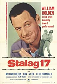 William Holden, Harvey Lembeck, and Robert Strauss in Stalag 17 (1953)