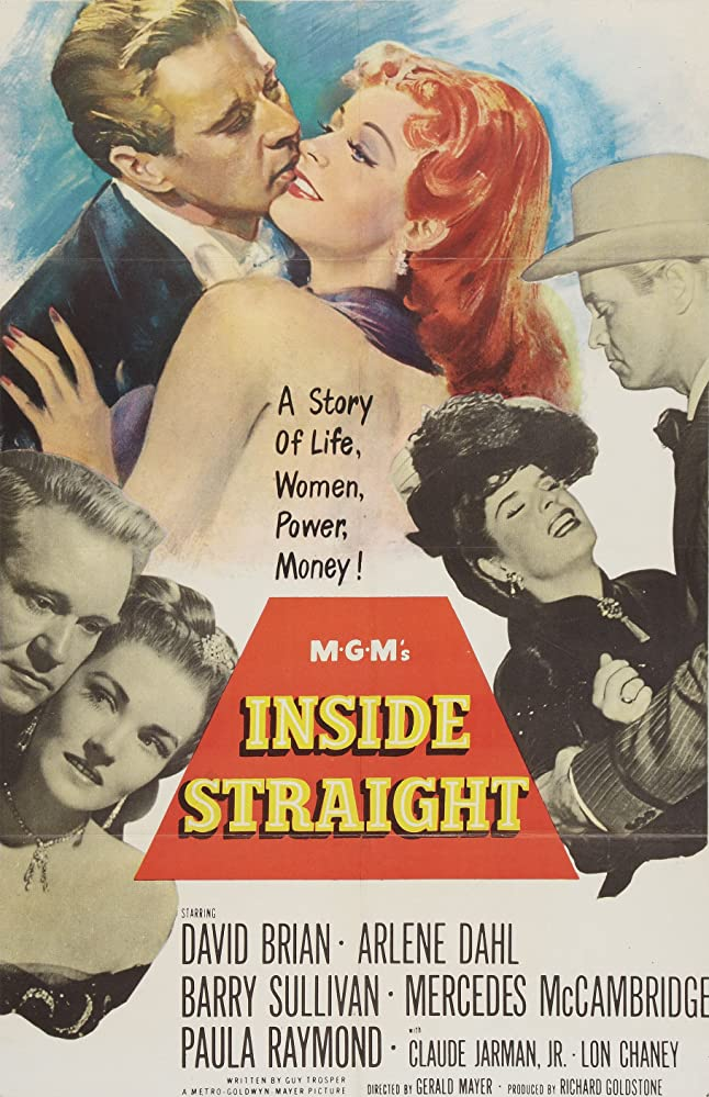 Arlene Dahl, David Brian, Mercedes McCambridge, Paula Raymond, and Barry Sullivan in Inside Straight (1951)