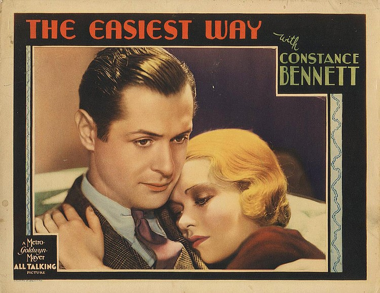 Constance Bennett and Robert Montgomery in The Easiest Way (1931)