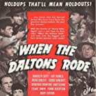Randolph Scott, Broderick Crawford, Brian Donlevy, Frank Albertson, George Bancroft, Andy Devine, Stuart Erwin, and Kay Francis in When the Daltons Rode (1940)