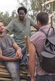 Matthew Fox, Josh Holloway, and Harold Perrineau in Lost (2004)