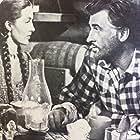 Stewart Granger and Cyd Charisse in The Wild North (1952)