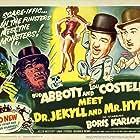 Boris Karloff, Bud Abbott, Lou Costello, Eddie Parker, and Helen Westcott in Abbott and Costello Meet Dr. Jekyll and Mr. Hyde (1953)