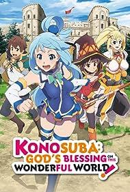 Jun Fukushima, Rie Takahashi, Ai Kayano, and Sora Amamiya in Kono subarashii sekai ni shukufuku o! (2016)