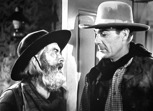 Randolph Scott and George 'Gabby' Hayes in Badman's Territory (1946)