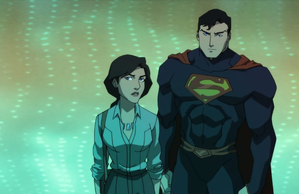 Jerry O'Connell and Rebecca Romijn in The Death of Superman (2018)