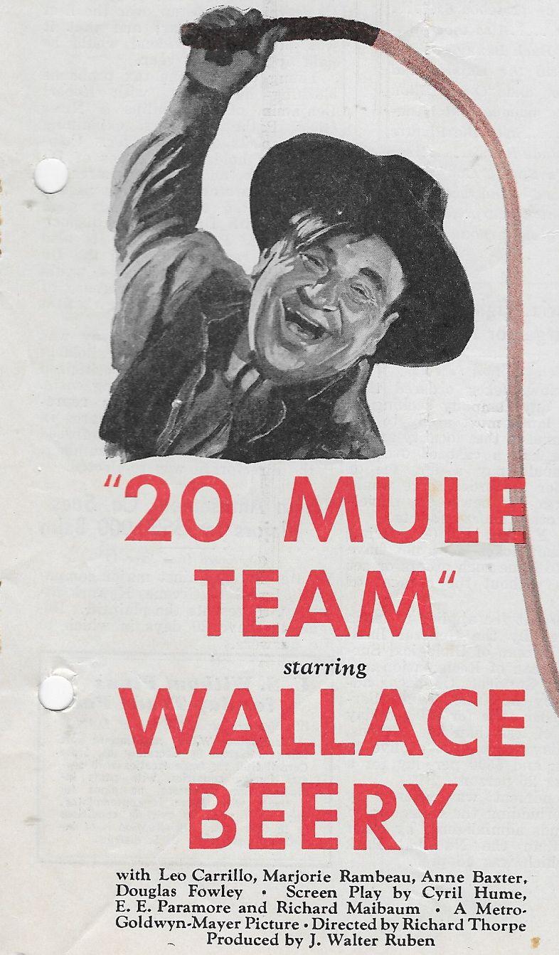Wallace Beery in 20 Mule Team (1940)