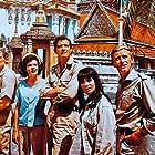 Paul Hubschmid, Horst Frank, Dorothee Parker, Brad Harris, and Michèle Mahaut in Die Diamantenhölle am Mekong (1964)