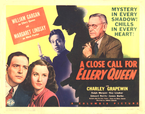 Claire Du Brey, William Gargan, Charley Grapewin, and Margaret Lindsay in A Close Call for Ellery Queen (1942)
