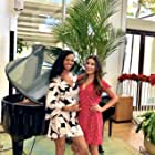 Still of Lea Michele & Candace Smith on set of 'Same Time, Next Christmas'