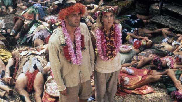 Tom Hanks and Meg Ryan in Joe Versus the Volcano 1990
