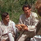 Gregory Peck, Robert Beatty, and James Robertson Justice in Captain Horatio Hornblower R.N. (1951)