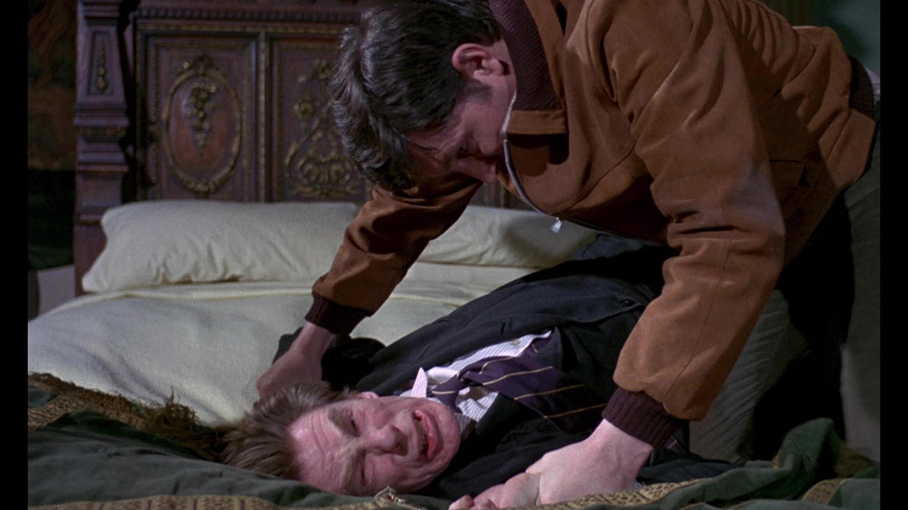 Michael Gough and Mark Eden in Curse of the Crimson Altar (1968)