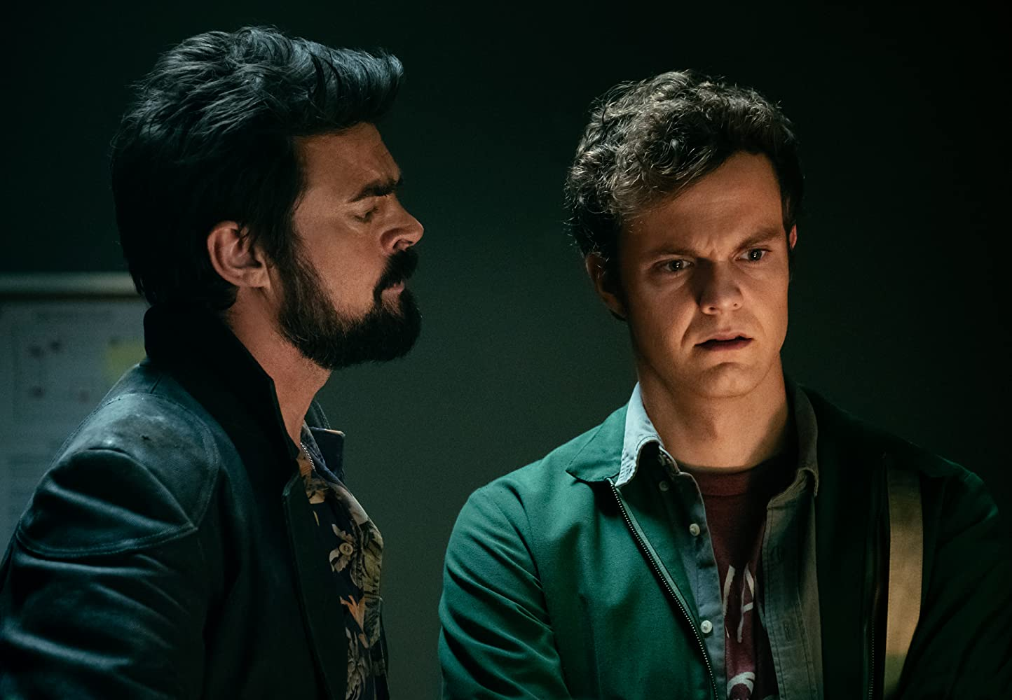 Karl Urban and Jack Quaid in The Boys (2019)