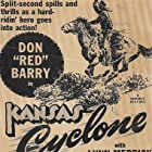 Don 'Red' Barry and Lynn Merrick in Kansas Cyclone (1941)