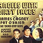 James Cagney, Pat O'Brien, Gabriel Dell, Leo Gorcey, Huntz Hall, Billy Halop, Bobby Jordan, Bernard Punsly, Ann Sheridan, and The Dead End Kids in Angels with Dirty Faces (1938)