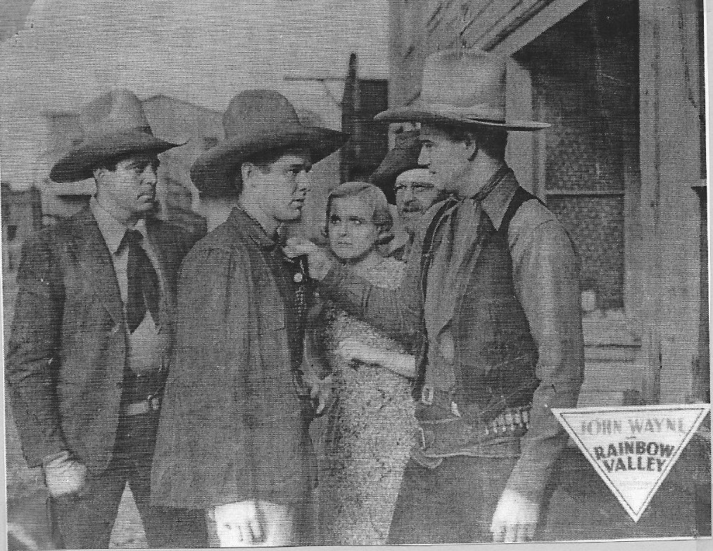 John Wayne, Lucile Browne, Tommy Coats, George 'Gabby' Hayes, and LeRoy Mason in Rainbow Valley (1935)