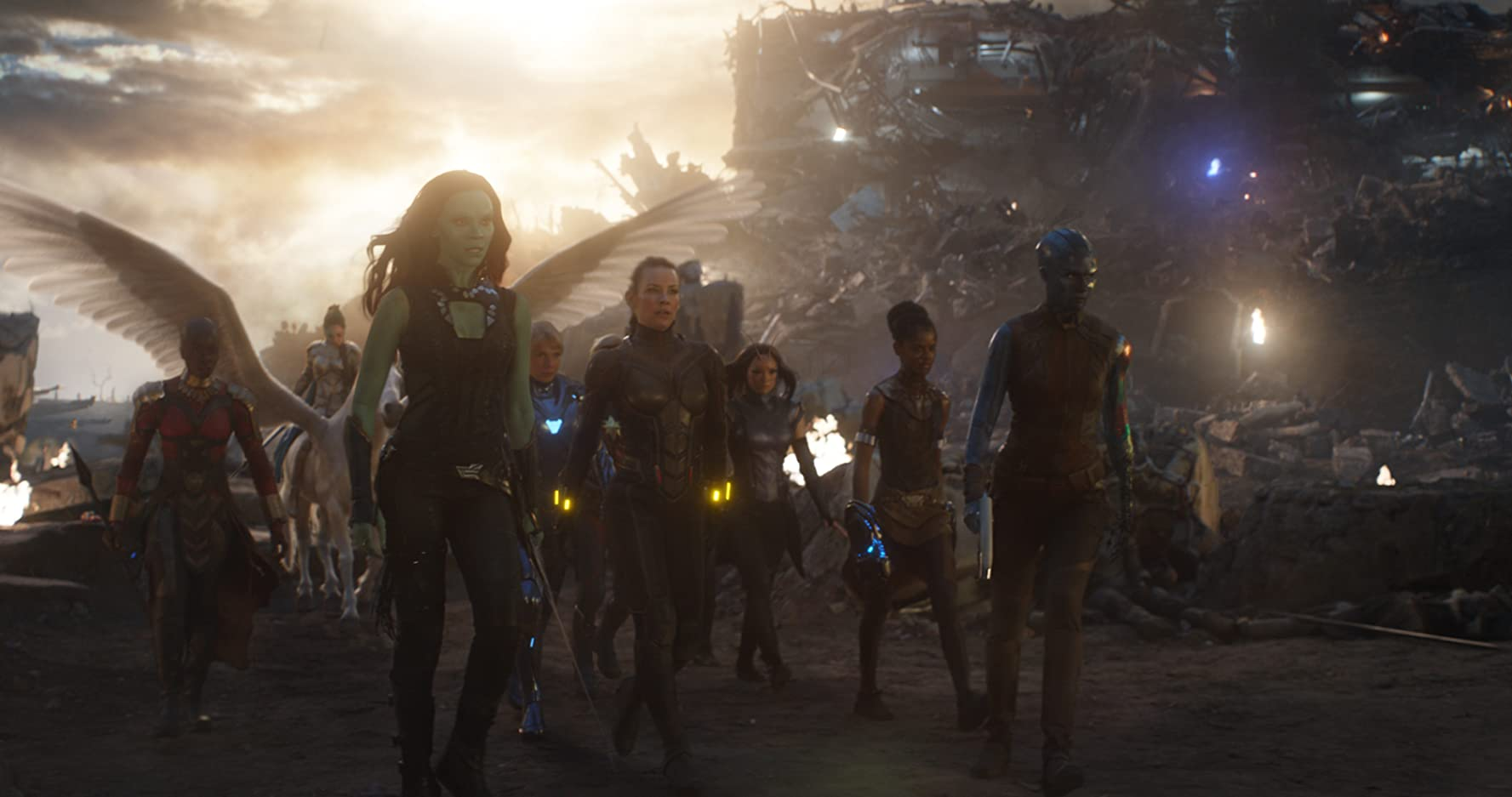 Gwyneth Paltrow, Zoe Saldana, Evangeline Lilly, Danai Gurira, Tessa Thompson, Karen Gillan, Pom Klementieff, and Letitia Wright in Avengers: Endgame (2019)
