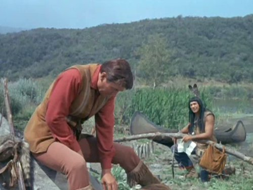 Ed Ames and Fess Parker in Daniel Boone (1964)