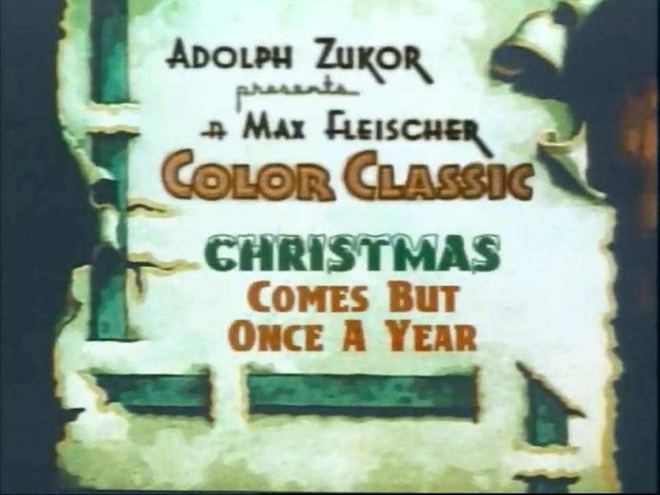 Christmas Comes But Once A Year 1936 Imdb