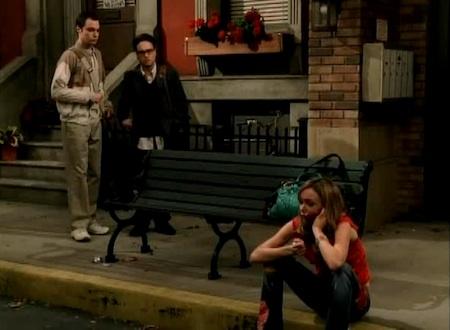 Johnny Galecki, Amanda Walsh, and Jim Parsons in The Big Bang Theory (2007)