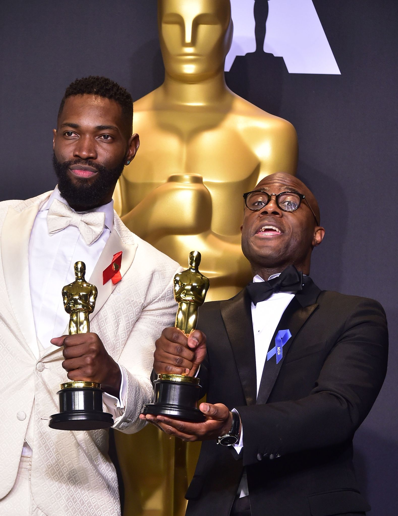 Barry Jenkins and Tarell Alvin McCraney at an event for Moonlight (2016)